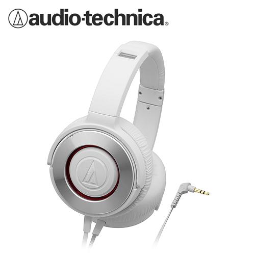 鐵三角 ATH-WS550 重低音便攜型耳罩式耳機 白