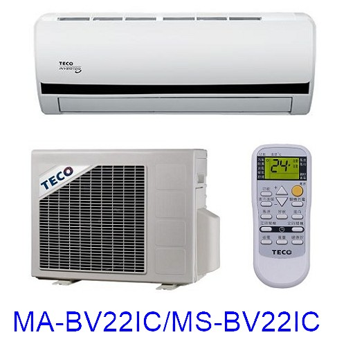 【TECO東元】2-4坪變頻單冷分離式MA-BV22IC/MS-BV22IC