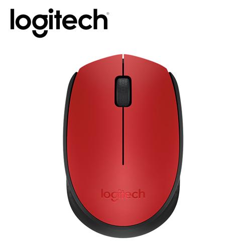 Logitech 羅技 M171 無線滑鼠 紅
