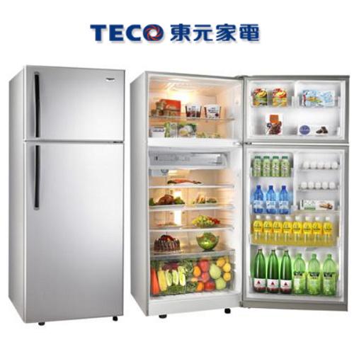好禮送【TECO東元】605L定頻雙門冰箱R6110K【 琉璃金】