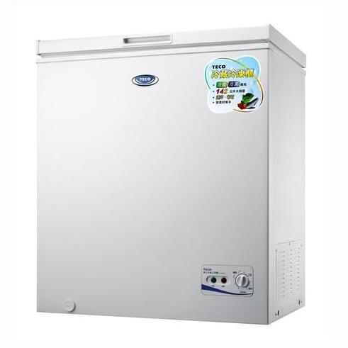 【TECO東元】142L上掀式單門冷凍櫃RL1481W