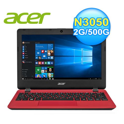 acer 宏 ES1-131-C7PW 文書筆電 (紅)