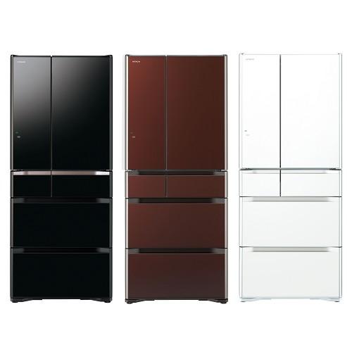 好禮送【HITACHI日立】620L日本原裝變頻六門冰箱RG620FJ(琉璃黑XK)-