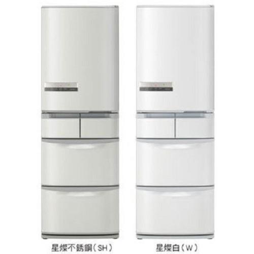 【HITACHI日立】420L日製變頻五門冰箱RS42EMJ(不銹鋼SH)(星燦白W)-