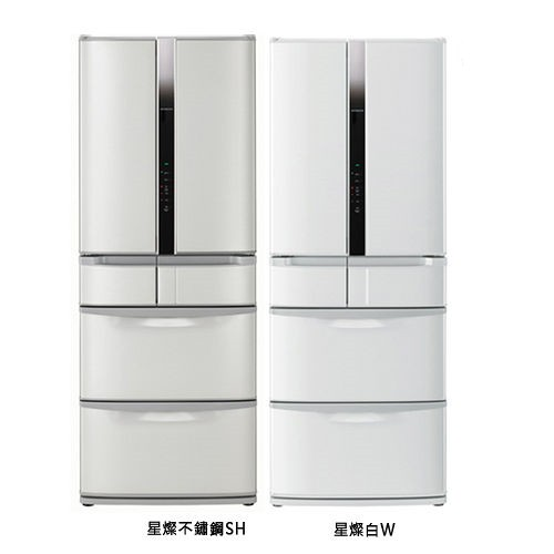 【HITACHI日立】475L日製變頻六門冰箱RSF48EMJ(不鏽鋼SH)(星燦白W)-