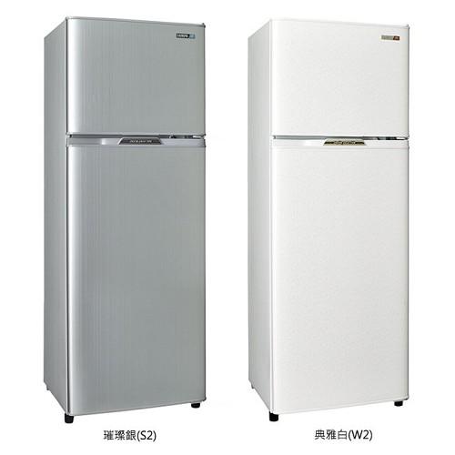 好禮送【SAMPO聲寶】250L雙門冰箱SR-L25G(S銀)(W白)-