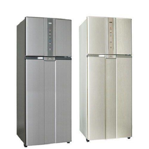 【SAMPO聲寶】460L二門變頻冰箱SR-N46D(灰/金)