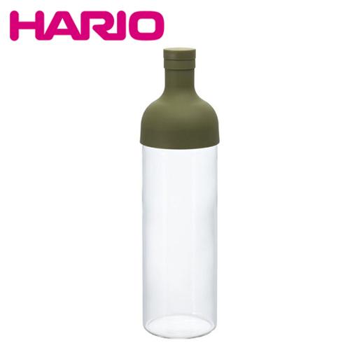 日本制造 HARIO 酒瓶型玻璃冷泡茶壶 750ML 绿色 (内附茶网) HAR-FIB75