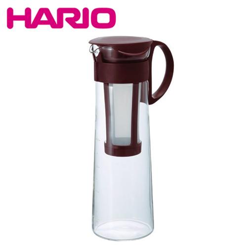 日本製造 HARIO 冷泡冰滴咖啡壺/泡茶壺-咖啡色 1000ML (含濾網)