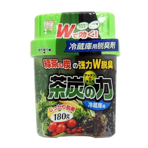 日本進口 綠茶炭冷藏庫專用消臭劑(180g/盒) 3入組 LI-2329
