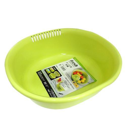日本製造 洗物收納盆-綠色 SAN-D5550
