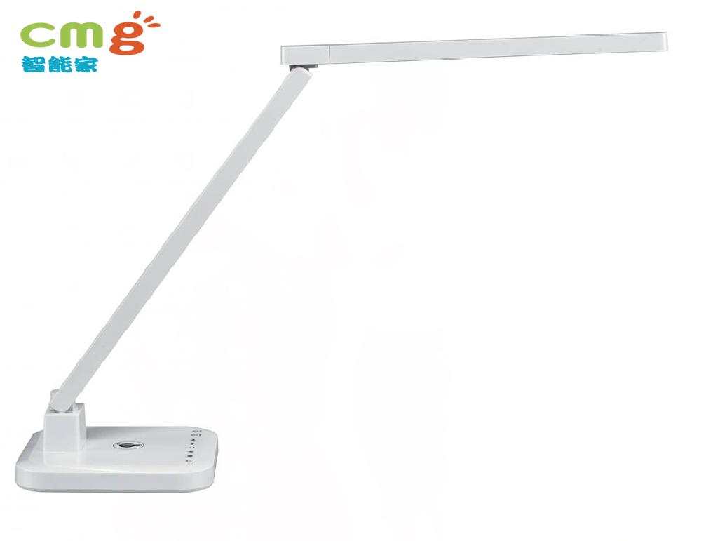 LED 調光氣氛省電護眼檯燈系列 USB & 無線QI充電功能(白色)