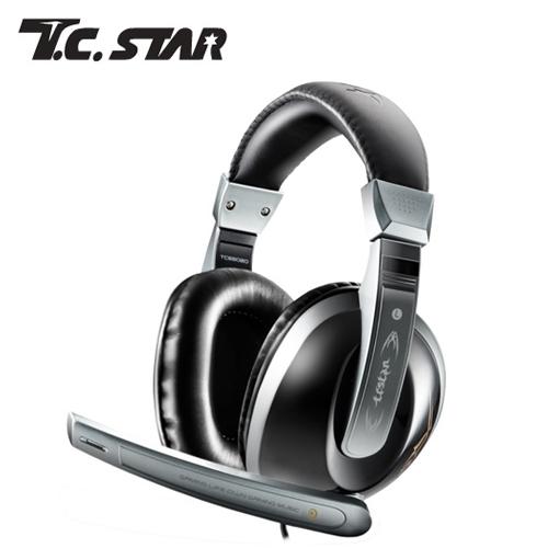 T.C.STAR TCE8020GR 電競頭戴式耳麥(灰色)