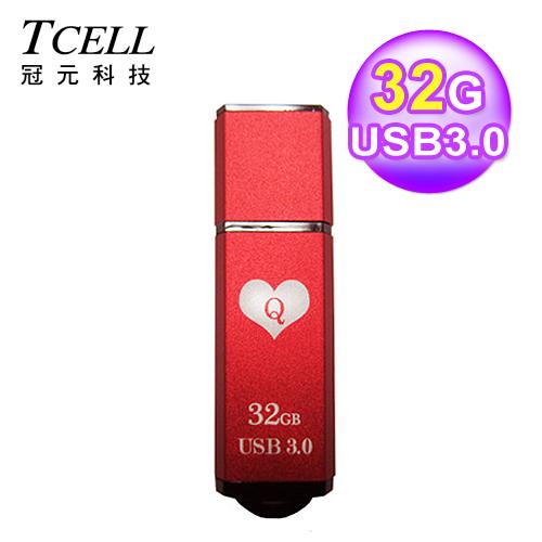 TCELL 冠元 TC040 USB3.0 扑克碟 32GB 红心Q