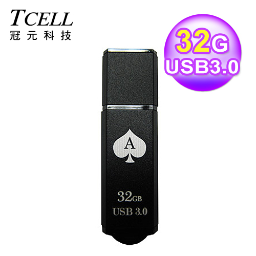 TCELL 冠元 TC040 USB3.0 扑克碟 32GB 黑桃A