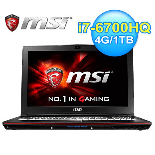 msi 微星 GP62 6QE~403TW 15.6吋 六代筆電