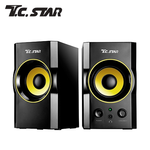 T.C.STAR 木质USB电脑多媒体喇叭 TCS2423