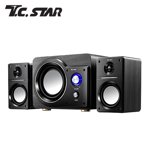 T.C.STAR 三件式木箱多媒體喇叭 TCS3523