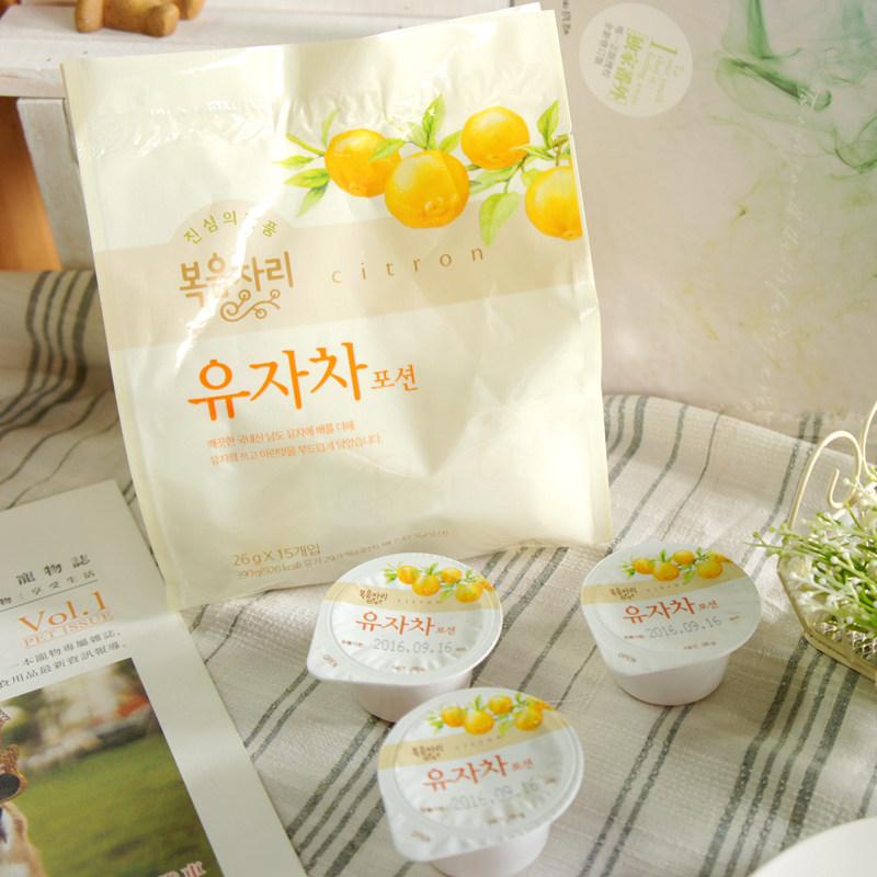花果園柚子茶 奶油球包裝