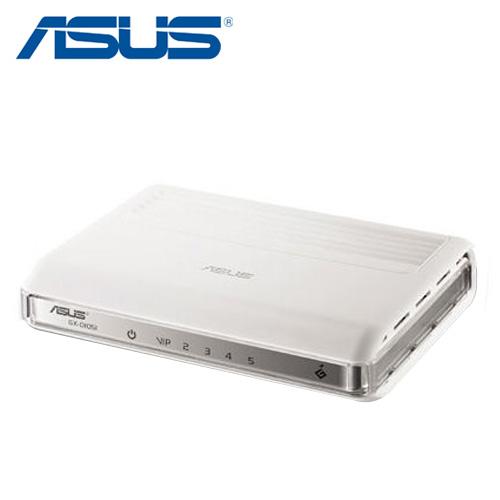 ASUS華碩 GX-D1051 節能5 埠 Gigabit 乙太網路交換器