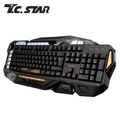 T.C.STAR TCK803GD 自定義電競鍵盤-金
