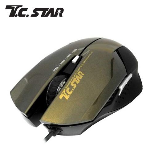 T.C.STAR TCN190C 電競光學滑鼠-香檳