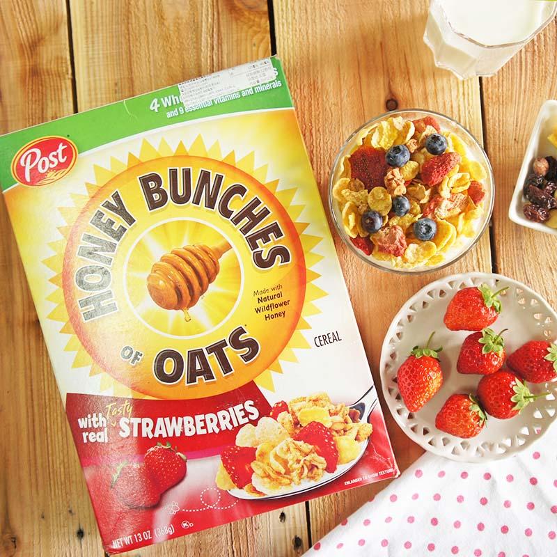 美國Post-蜂蜜草莓燕麥穀物麥片