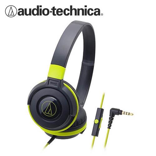 鐵三角 ATH-S100iS 耳罩式耳機 綠 ICASH