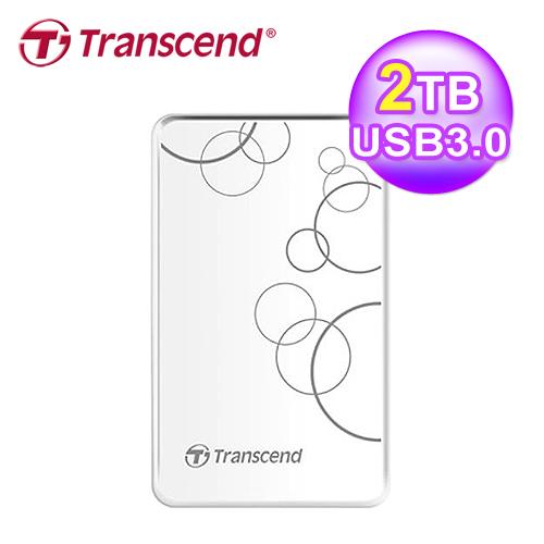 創見 TS2TSJ25A3W 2TB 外接硬碟 USB3.0