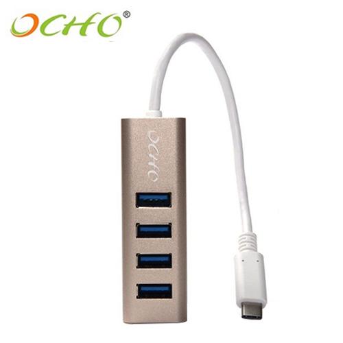 OCHO TYPE-C 4孔高速集线扩充器 金