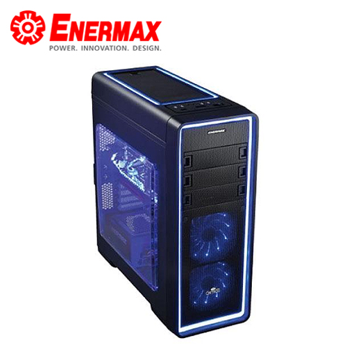 Enermax 保銳 黑魅極光 ECA3380AS~BL^(海洋藍^) 電腦機殼