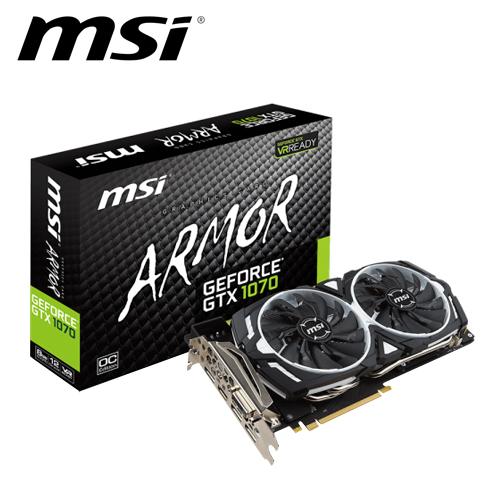 msi 微星 GTX 1070 ARMOR 8G OC 顯示卡
