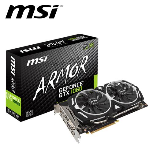 msi 微星 GTX 1060 ARMOR 6G OC 顯示卡