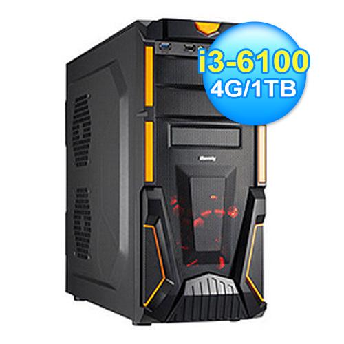 微星 H110平台 六代I3電腦(機動戰士)
