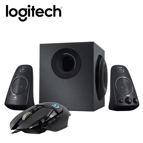 羅技 2.1 音箱系統 Z623 + G502 RGB自調控遊戲滑鼠