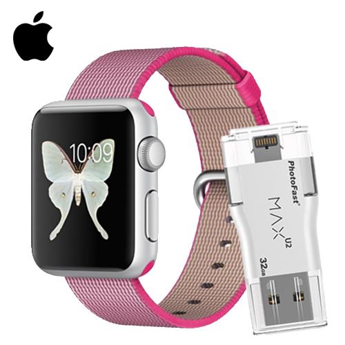 Apple Watch Sport 38 鋁金屬(粉色)+PhotoFast MAX 32G(市價$1799)