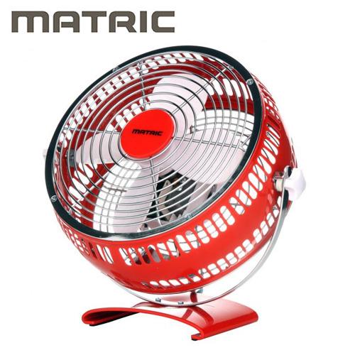 MATRIC 日本松木 8吋 金屬扇 紅 MG-AF0801