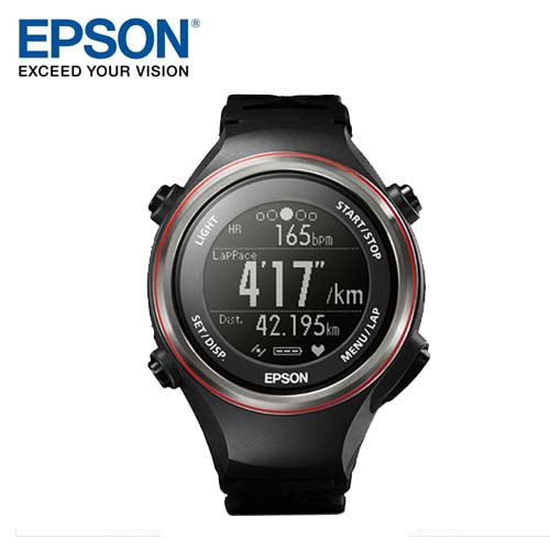 EPSON 愛普生 SF-850 GPS心率運動錶 黑