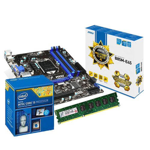 Intel Core i5-4460 四核心 微星 B85M-E45 主機板 創見 DDR3 1600 8G PC用