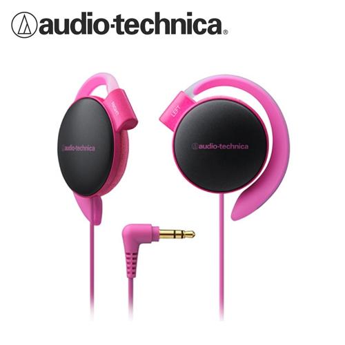 鐵三角 ATH-EQ500 輕量薄型軟質耳掛式耳機 粉紅