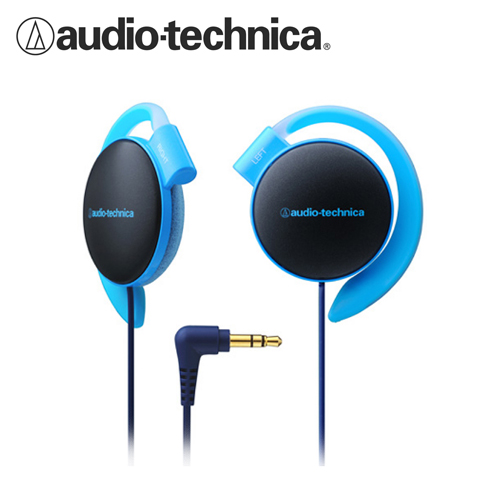 鐵三角 ATH-EQ500 輕量薄型軟質耳掛式耳機 藍