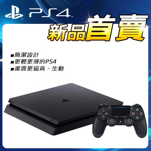 PS4 1TB薄型主機 CUH-2017BB01 黑