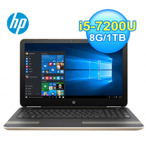 HP 惠普 15~au166TX 15.6吋 七代筆電^( 金^)