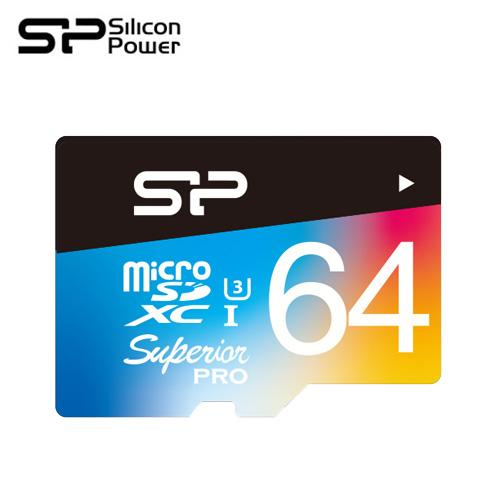 SP 廣穎 4K高畫質U3 64GB 全彩記憶卡