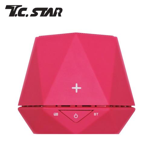 T.C.STAR TCS1020 粉六角蓝牙喇叭
