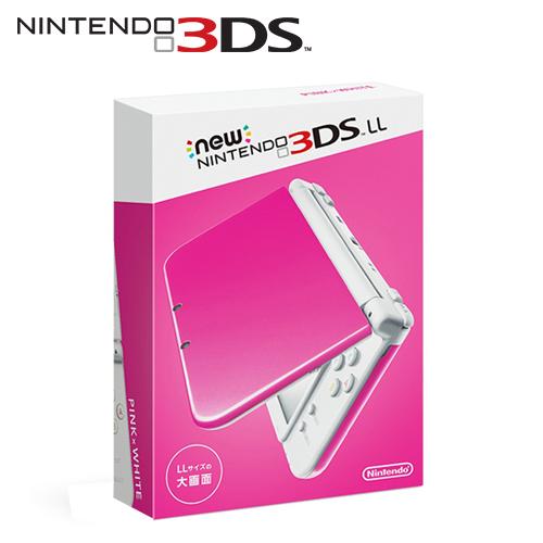 任天堂 New 3DS LL 日規主機 粉紅x白