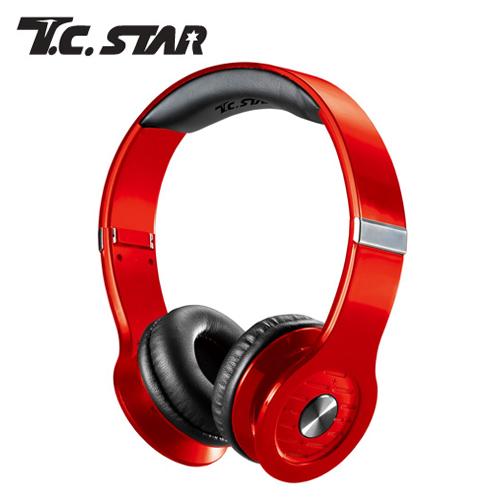 T.C.STAR TCE6850RD 無線藍牙耳機麥克風-紅