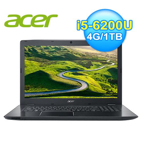 acer 宏 E5-774G-5184 六代筆電(黑)