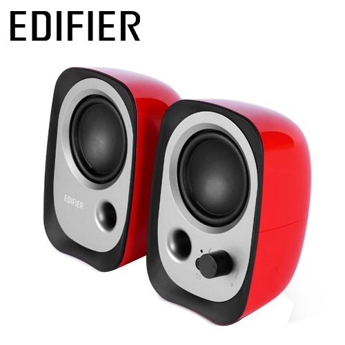 EDIFIER 漫步者 R12U 二件式喇叭 紅色
