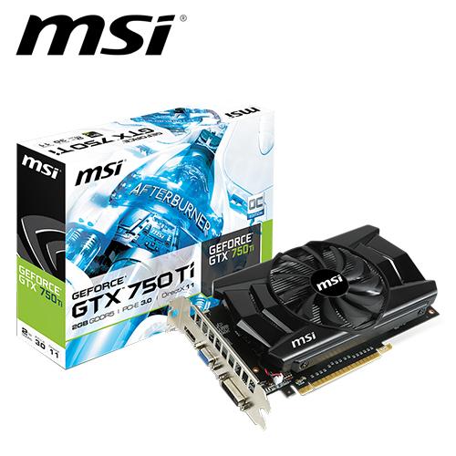 msi 微星 N750Ti-2GD5/OC 顯示卡